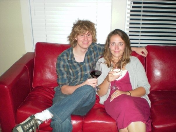 John and Lee Anne drinking wine